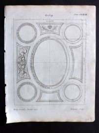 Langley 1777 Antique Architectural Print. Ceiling 171
